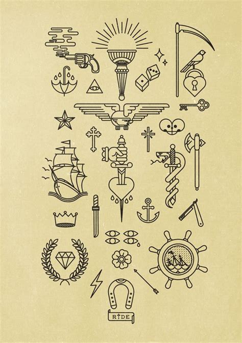la numerograf 237 a tipo tatuaje de bnomio umbrellas line