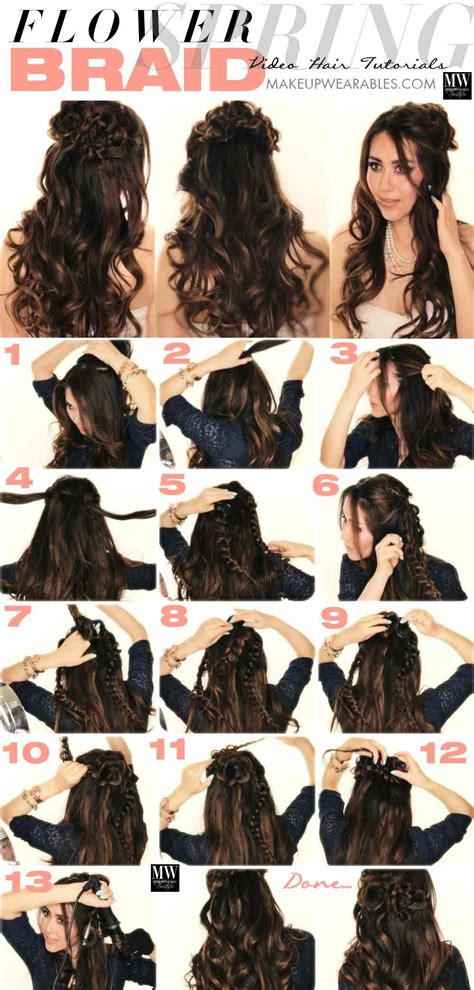 hairstyles with curls and braids step by step best open hairstyles for party 2018 in pakistan fashioneven
