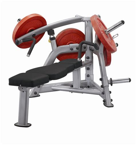 plate loaded bench press machine fmi steelflex plate loaded bench press commercial grade