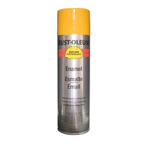 shop rust oleum high performance caterpillar yellow enamel spray paint actual net contents 15