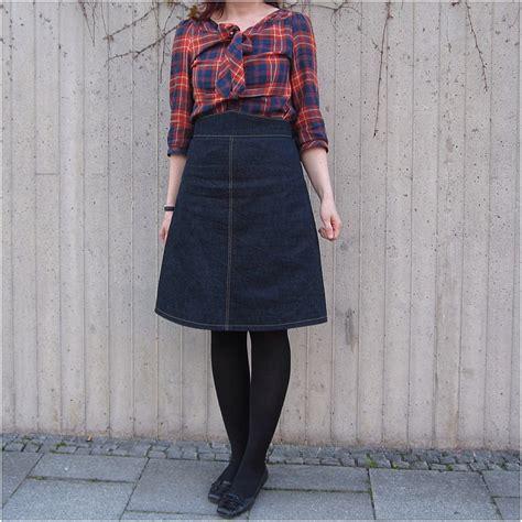 denim skirt sewing projects burdastyle