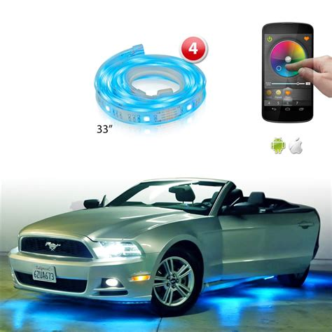 app controlled car lights xkglow xk silver app wifi controlled undercar