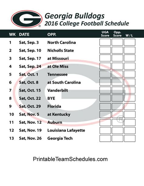printable uga schedule 35 best images about inspirations and pics on pinterest