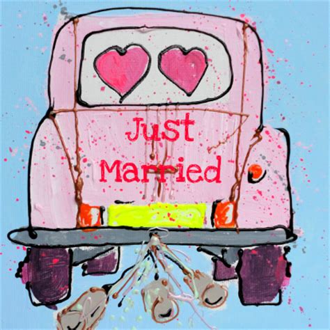 Just Married Auto Blikjes by Just Married Trouwkaart Nl