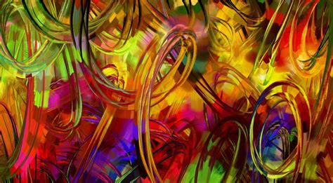 Batik Painting Abstrak Warna schilderij met gekleurde cirkels hd wallpapers