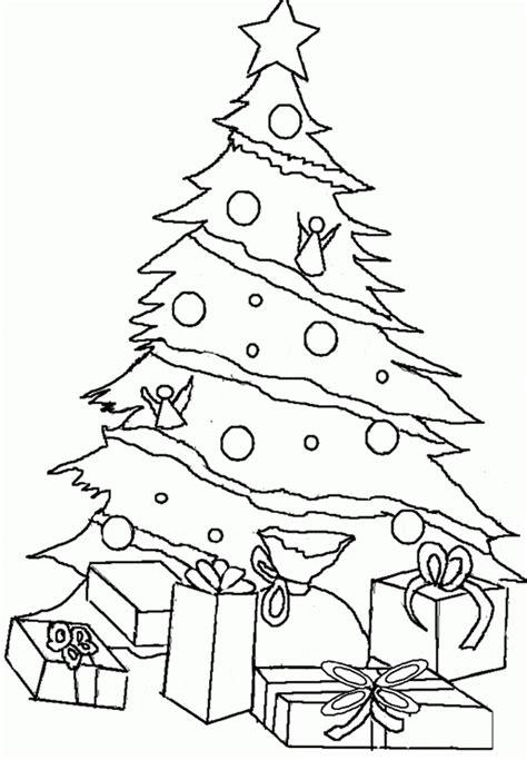 imagenes de arboles de navidad para colorear bonitos imagen de pino de navidad con regalos para dibujar y