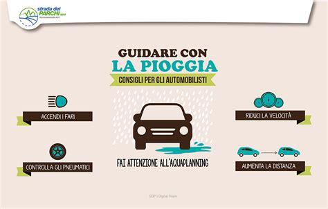 distanza di sicurezza in caso di pioggia guidare in sicurezza sotto la pioggia strada dei parchi
