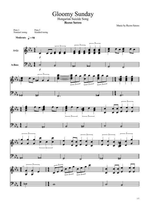 gloomy sunday original piano version rezs seress rezso seress gloomy sunday pdf filesomg