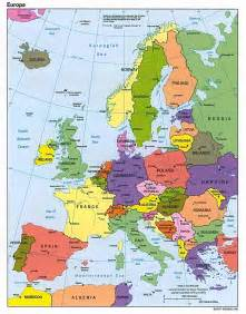 map of in europe maps europe