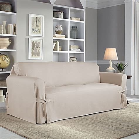 perfect fit sofa covers perfect fit 174 classic relaxed fit sofa slipcover bed bath