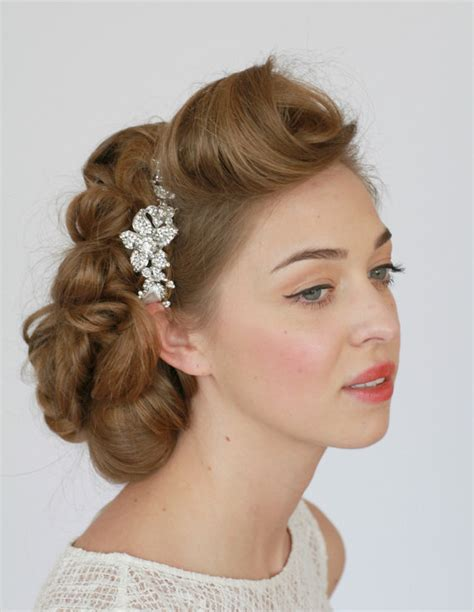 vintage bridesmaid hair pieces bridal headband headband rhinestone headband