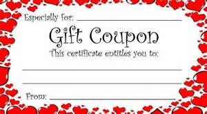 gift certificate coupon template theme gift coupon for s day or any time