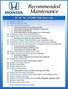 2013 honda civic maintenance schedule chart the