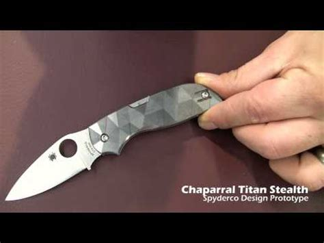 homemaker spydercollector spyderco 2012 prototype video chaparral titan stealth