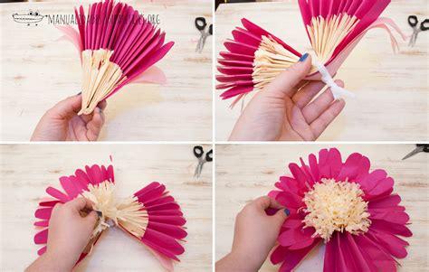 flores en papel seda paso a paso flores gigantes de papel manualidades infantiles