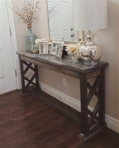 Rustic Foyer Table Rustic Farmhouse Entryway Table Sofa Table By Modernrefinement