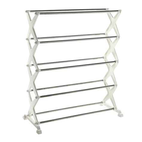 Shoe Rack Stainless Steel by 5 Tier Foldable Stainless Steel Shoe Rack Shoes Storage