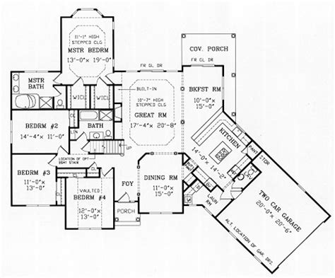 montgomery 4184 4 bedrooms and 2 baths the house designers