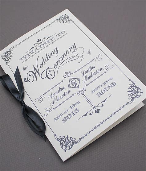 vintage wedding program templates diy ornate vintage wedding program booklet template add