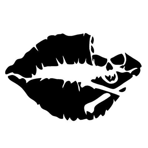 10 2 6 5cm skull lips car sticker decal car styling