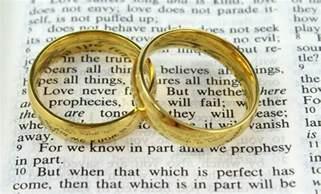 wedding rings on wedding rings on a bible