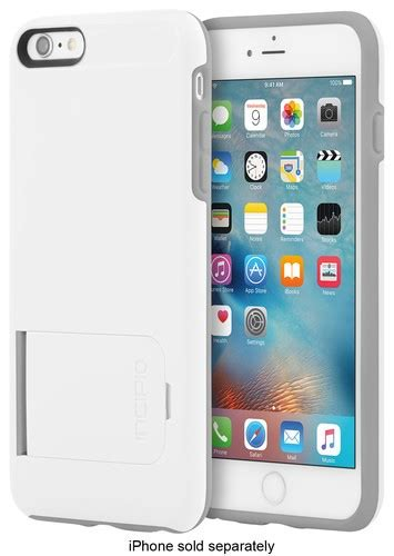 best buy incipio kicksnap for apple 174 iphone 174 6 plus and iphone 6s plus white gray iph 1202