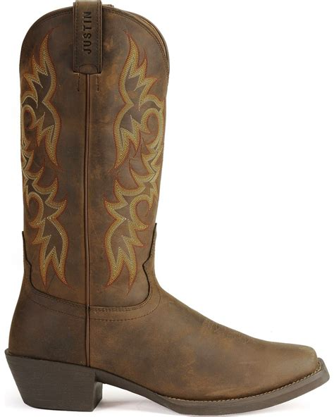 justin cowboy boots for justin stede western apache cowboy boots square toe