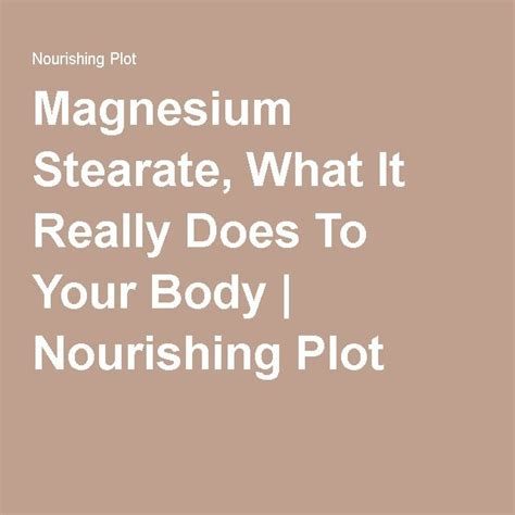 How To Detox From Magnesium Stearate by 8 Best I Must Do This Images On Ideas