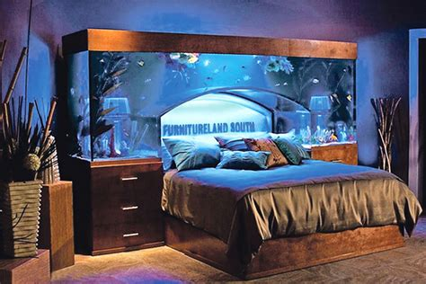fish tank in bedroom creative design bed from wayde king and brett raymer