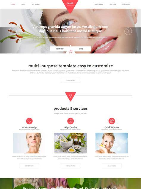 Skin Beauty Website Template Health Website Templates Dreamtemplate Website Skin Template