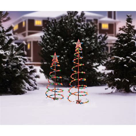 holiday time 3 and 4 lighted spiral christmas tree