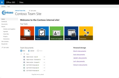 team site template customize your office 365 team site for file storage and