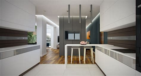 pendant lights peninsula avant garde apartments feature the lines and