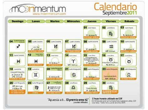 Calendario Astrologico Calendario Astrologico Septiembre 2011