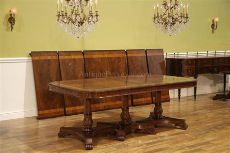 Regency Style Pedestal Dining Table Opens To 16