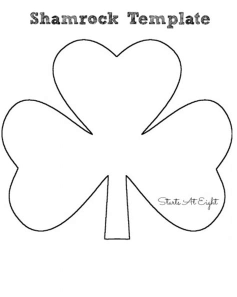 St Template st s day craft tissue paper shamrock