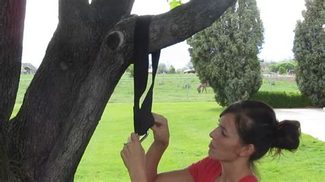 how to attach a swing to a tree branch using a tree swing hanging strap option 1 youtube