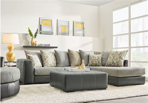 rooms images stafford gray 3 pc sectional living room clearance gray