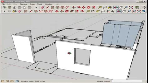 drawing a floor plan in sketchup sketchup import and model an autocad floor plan