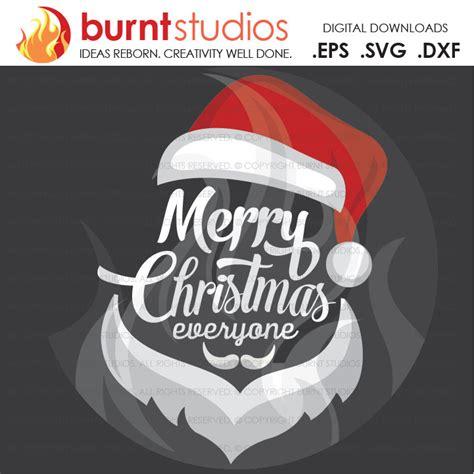 digital file merry christmas   santa face santa clause xmas shirt design decal design