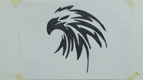 Aquila Tribal Set how to draw eagle tribal