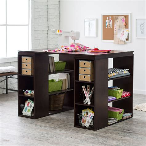 craft room furniture cheap sullivan counter height craft table espresso sewing