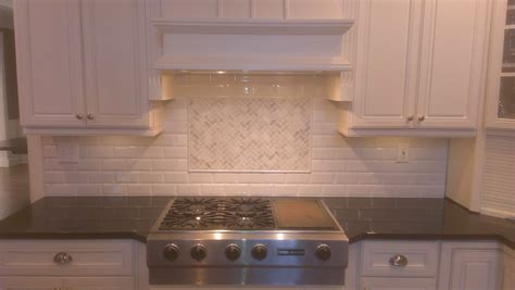 tiled backsplash subway tile backsplash