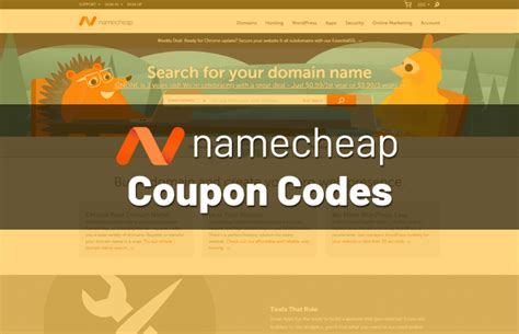 namecheap coupon codes discounts