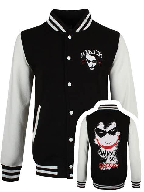 dc comics  joker varsity jacket buy   grindstorecom