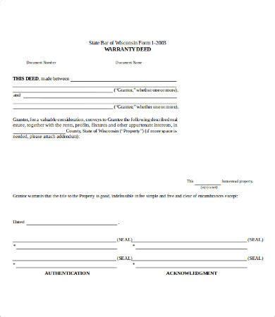 warranty deed form template warranty deed form 10 free word pdf documents