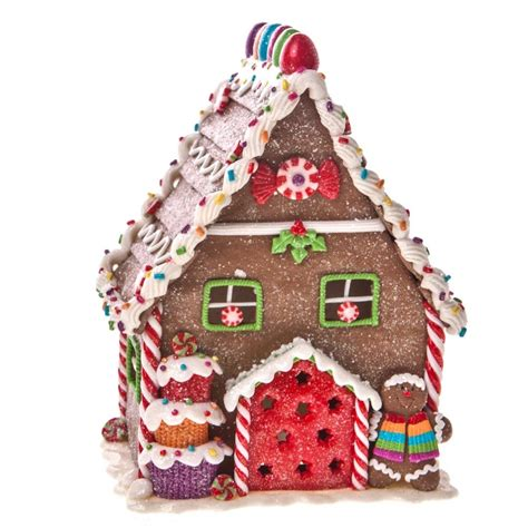 gisela graham christmas light up gingerbread house