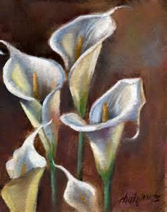Calla Lilies Bouquet Calla Lily Bouquet Original Painting By Artist Hall Groat Ii Dailypainters Com