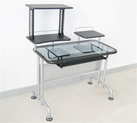 computer desk glass metal china metal and glass computer desk hd 615 china