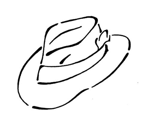 Hat Coloring Pages Printable Coloring Part 3 Hat To Color